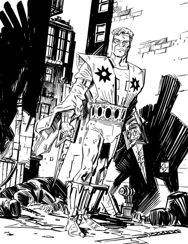 Goodwin and Simonson's Manhunter by deankotz