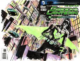 Green Lantern Batman Beyond sketch cover by deankotz