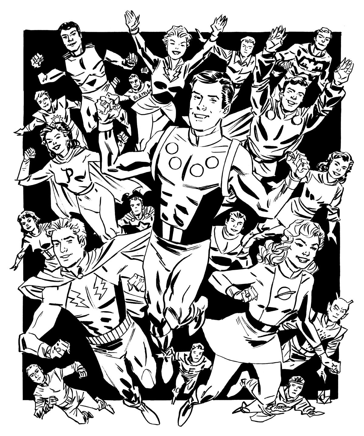 Silver Age Legion of Super-Heroes by deankotz