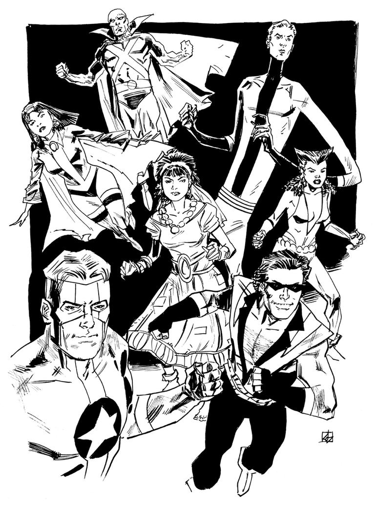 Justice League Detroit by deankotz