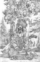 Hellboy drawing WIP by deankotz