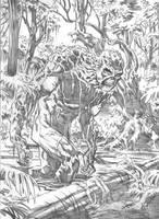 Swamp Thing sketch WIP by deankotz