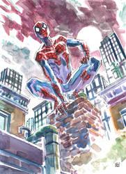 Spider-Man watercolor sketch by deankotz