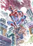 Spider-Man watercolor sketch