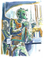 Greedo at the Cantina by deankotz