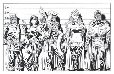 Avengers Villain Lineup by deankotz