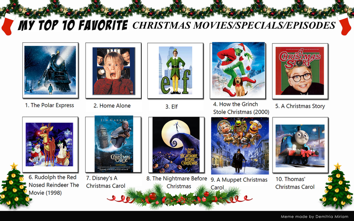 my top 10 christmas specialsmovies by blueengineliz6