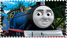 Bert the Blue Miniature Engine Stamp by BlueEngineLiz6