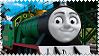 Rex the Green Miniature Engine Stamp by BlueEngineLiz6