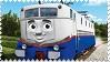 Etienne the French Engine Stamp by BlueEngineLiz6