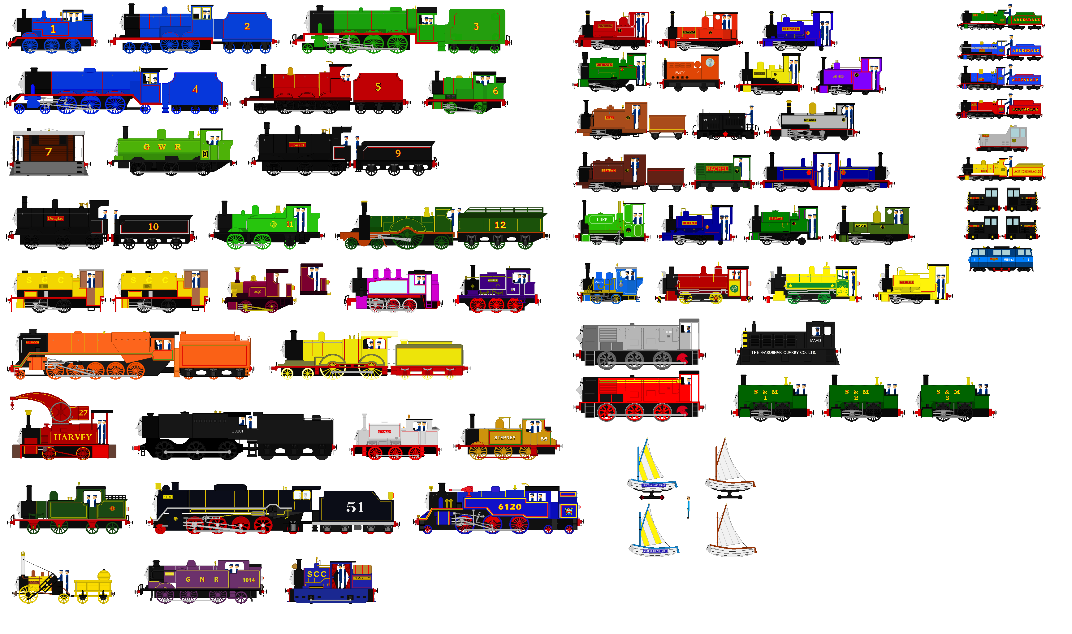 Thomas And Friends Characters With Crew By Blueengineliz6 On Deviantart