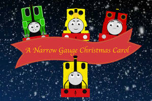 A Narrow Gauge Christmas Carol Title Card by BlueEngineLiz6