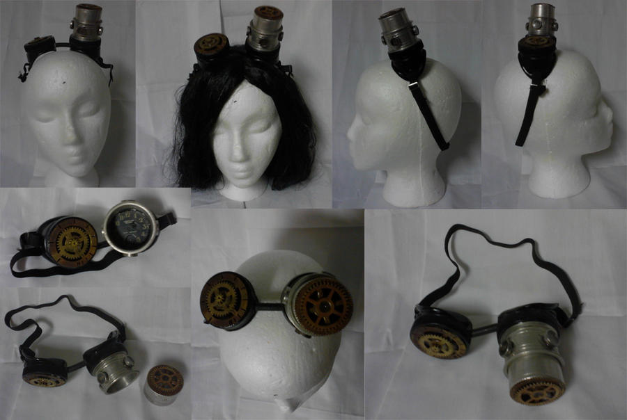 Steampunk Goggles by AbstractAttic