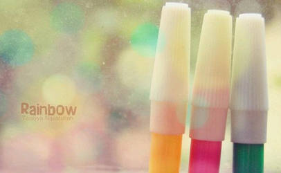 They are rainbow marker by taqiyayaya