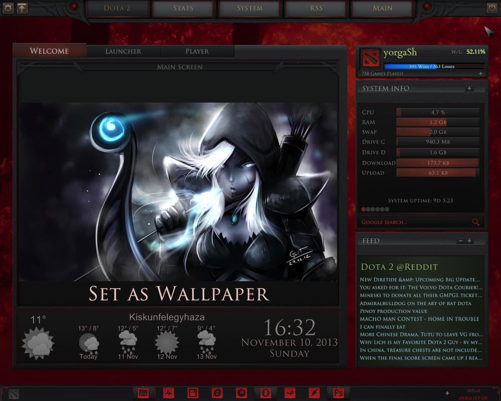dota 2 rainmeter rework wip by yorgash on deviantart