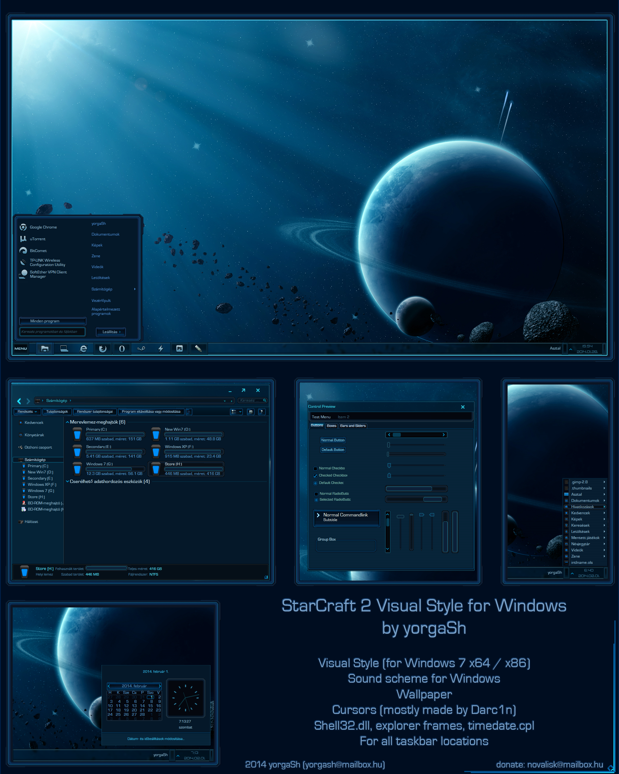 Starcraft 2 Windows Theme FINAL preview by yorgash