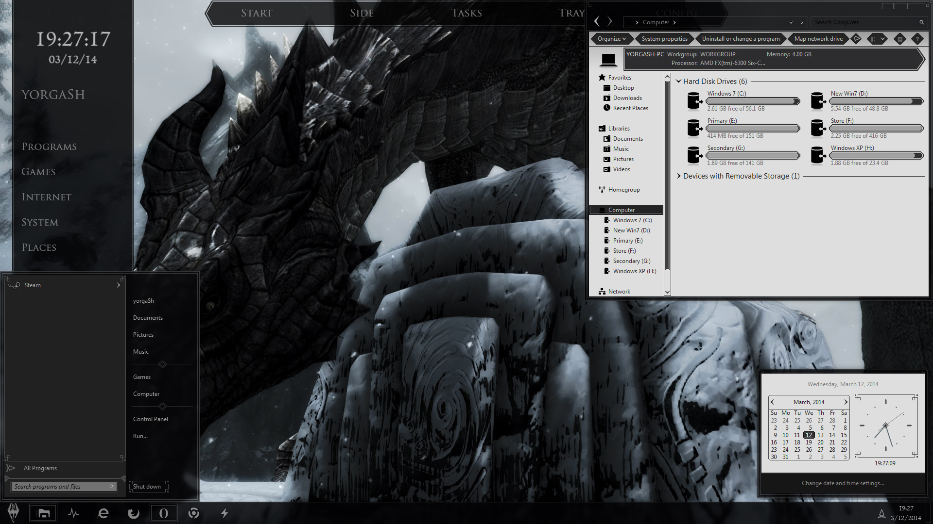 Skyrim Desktop WIP 12, March by yorgash