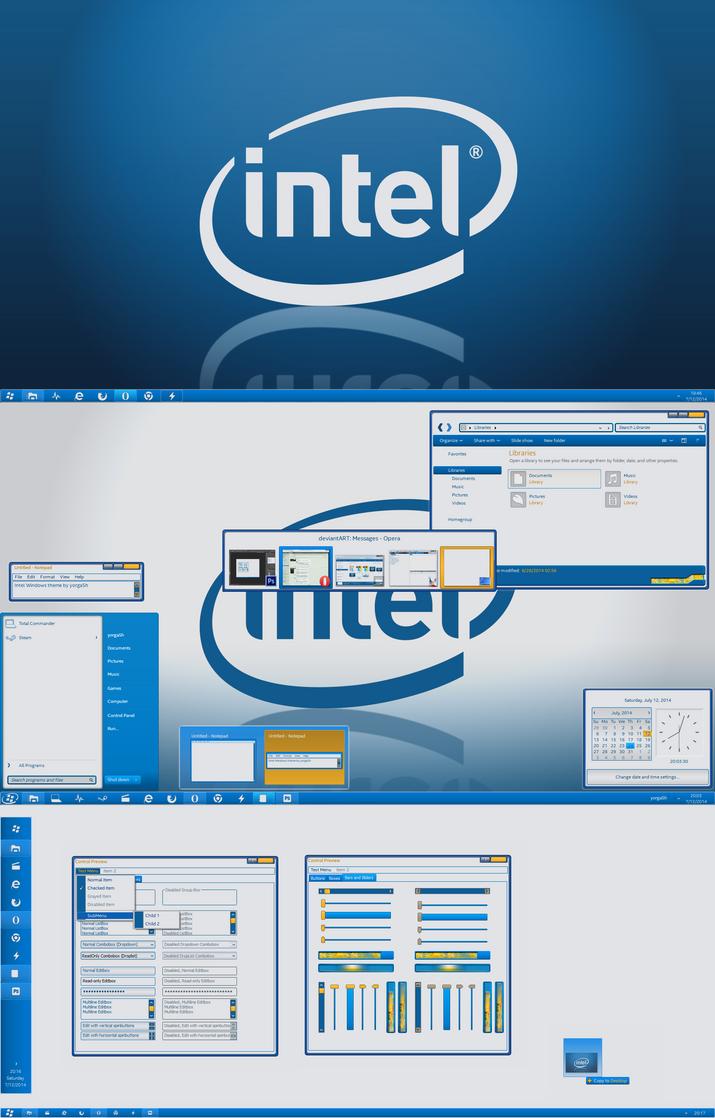 Intel Windows theme WIP - last preview by yorgash