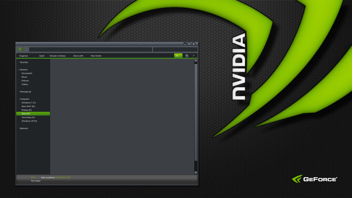 nVidia Windows theme WIP by yorgash