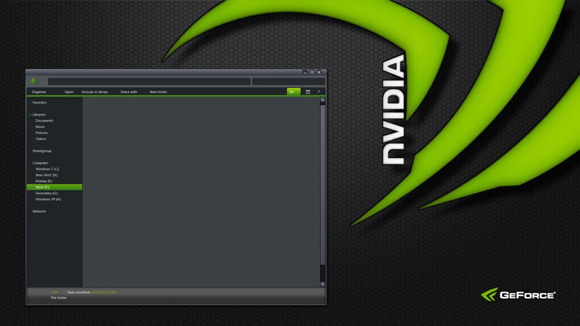 nVidia Windows theme WIP by yorgash