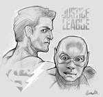 JusticeLegue Superman VS Flash