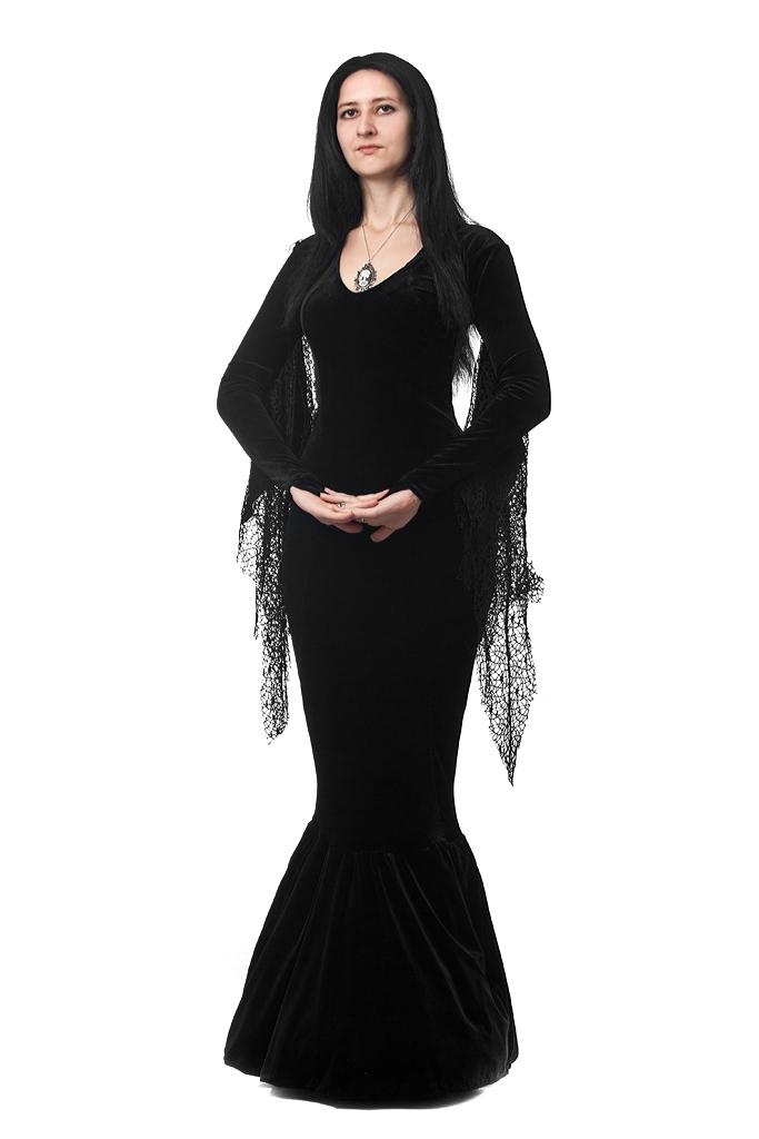 Morticia style dress