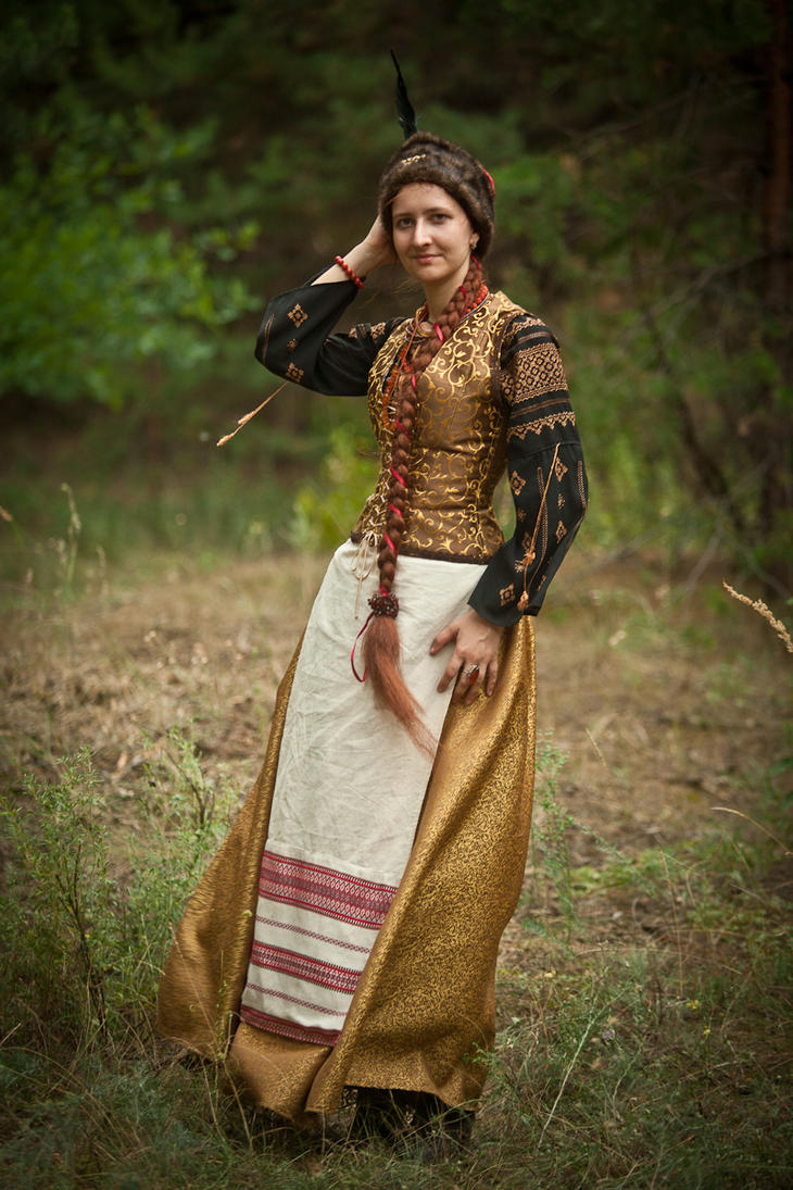 Ukrainian costume of 17th century, stylization by Ryzhervind