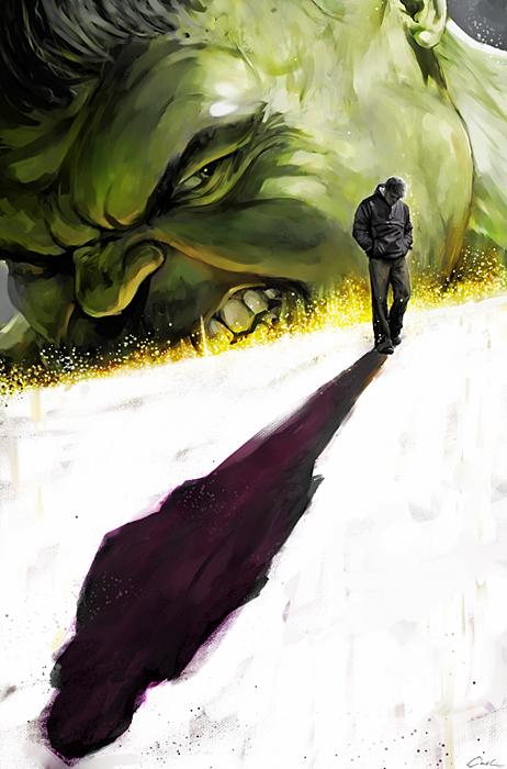 The Hulk vs. Bruce Banner by carstenbiernat on DeviantArt