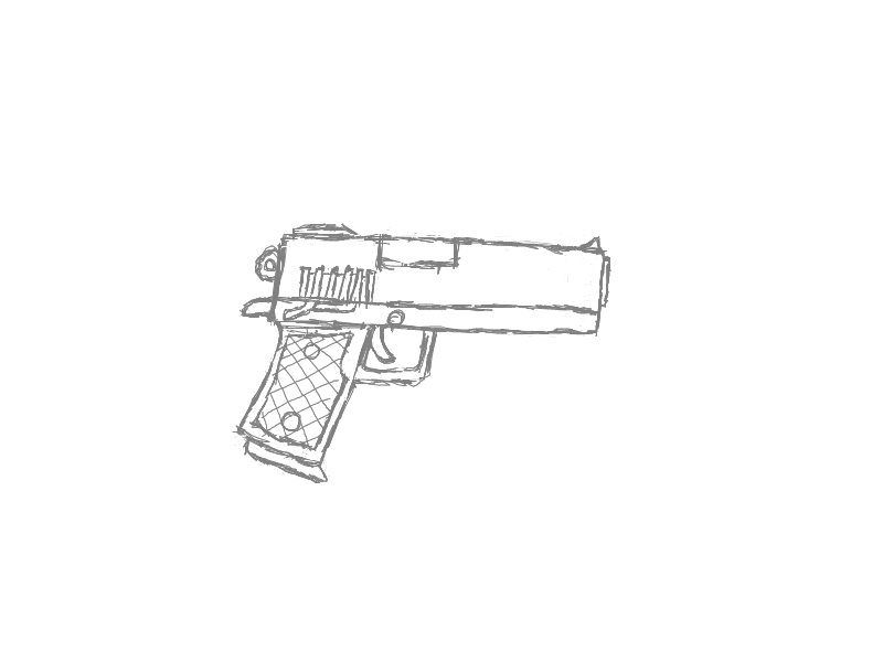 how to draw a gun for kids