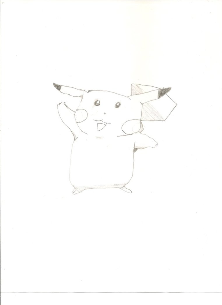 Pikachu Drawing by KayCStreet