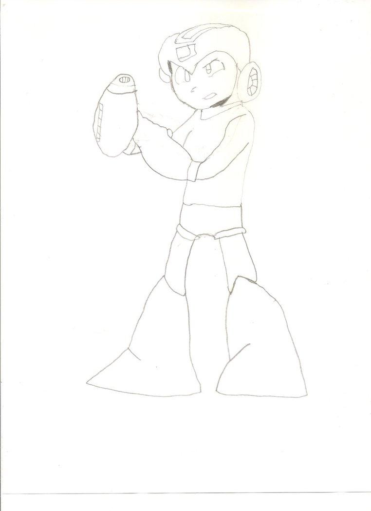 Megaman drawing by KayCStreet