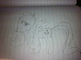 Fluttershy Uncolored by KayCStreet