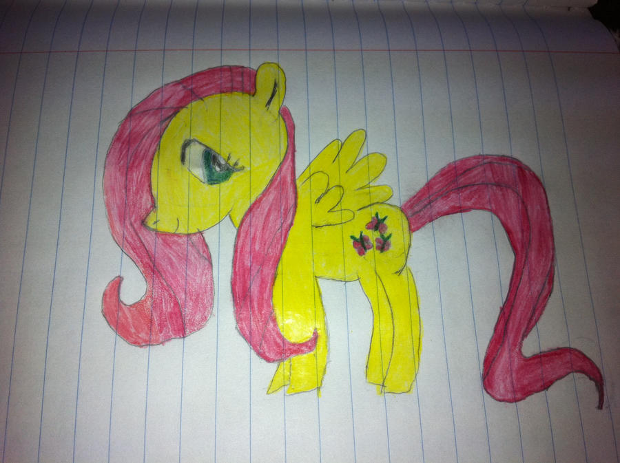 Fluttershy Colored 'Finished' by KayCStreet