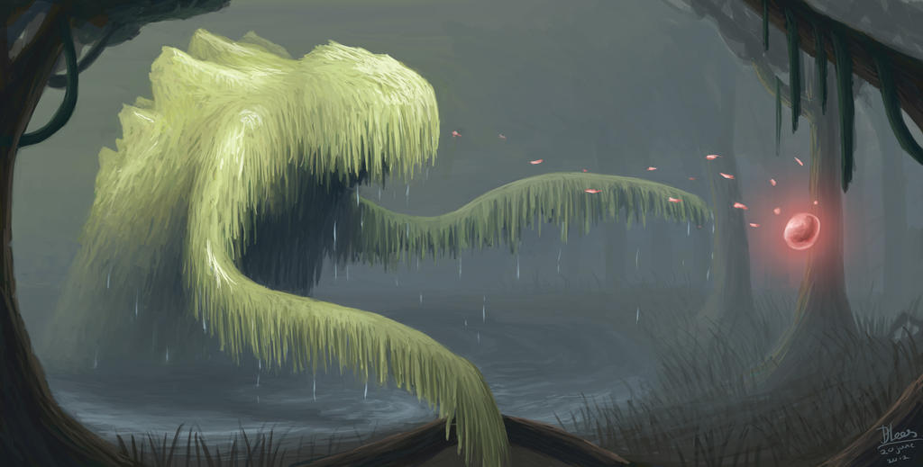 swamp monster environment by joldi