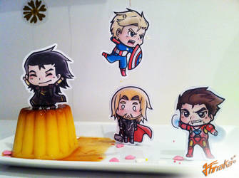 The Avengers chibi by Annaka-Art