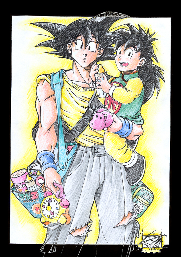 Goku e Gohan 2 by ediprata