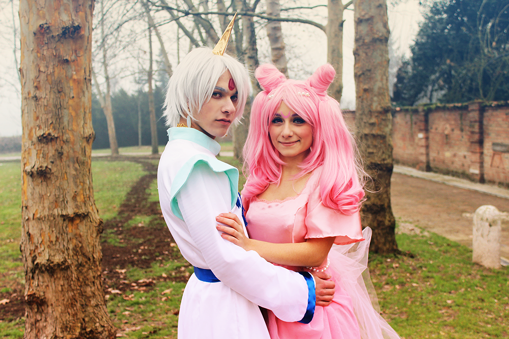 Helios and Chibiusa, A beautiful couple by LaurelinAureo