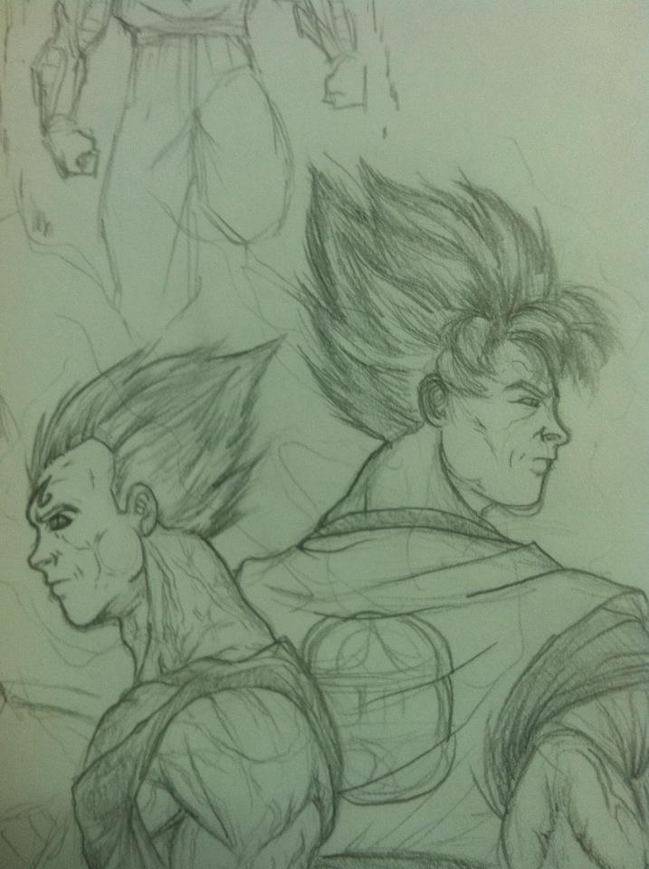 Goku and Vegeta by ticklemeclovers
