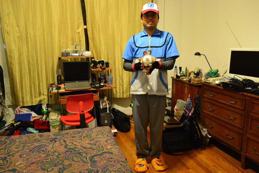 10-31-2014 - Me as Satoshi (Ash Ketchum) BW 8 by latiasfan2004
