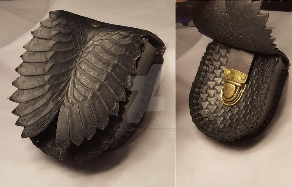 Ravens wings Pouch by PracticalApplication