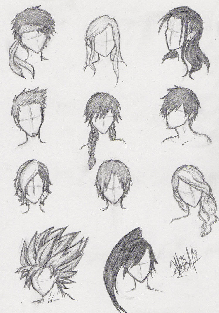 Scribble Drawing Anime : Images about hair on pinterest