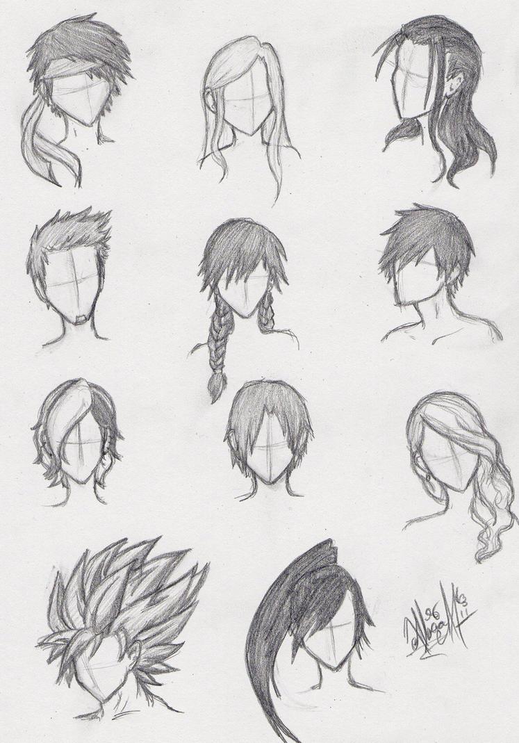How To Draw Boy Manga Hair