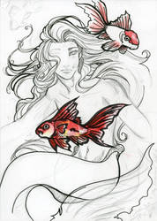 My aquarium I goldfish by Mu-chan