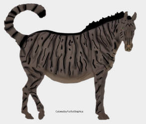Fat Cat Horse with Cat tail by FoxTrotGraphics