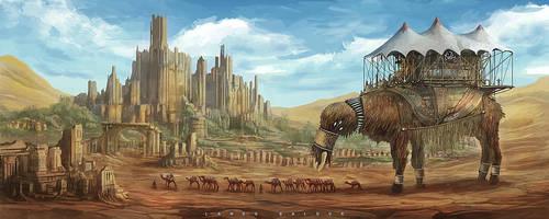 arrival of the emperor by landobaldur