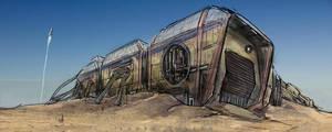 desert hangar by landobaldur