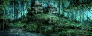 cabin in the woods by landobaldur