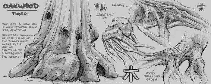 oakwood forest sketches