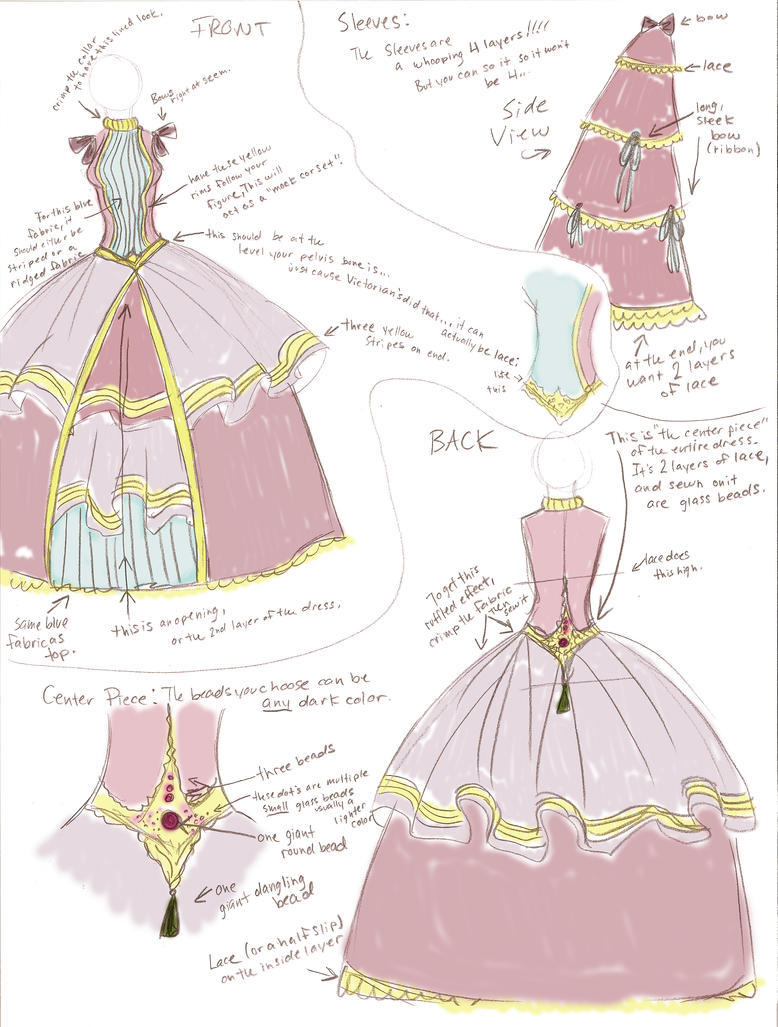 Victoria coloring dresses victorian clothes colouring pages page 2 - Victorian Dress Sketch By Roseandthorn