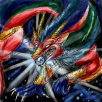 Rainbow Dragon by hibikio
